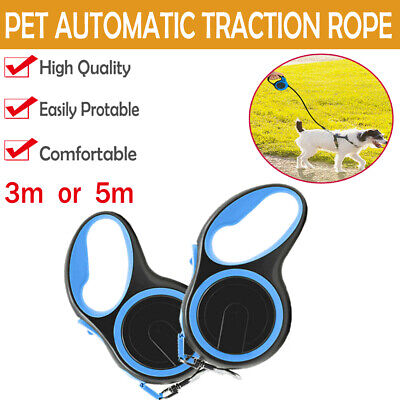 Heavy Duty Strong Dog Puppy Extendable Retractable Lead Set 5M Up To 25KG Dogs