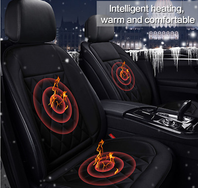 12V Universal Car Seat Pad Heating Cushion Cover Thermal Warm Heated Cold Winter