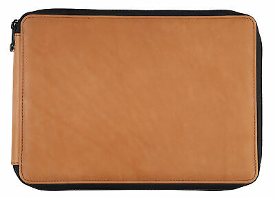 412120 Global Art Materials Leather Pencil Case Saddle Brown