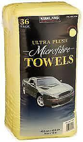 Kirkland Signature Microfibre Ultra Plush Microfiber Towels Cloth 36 Pack