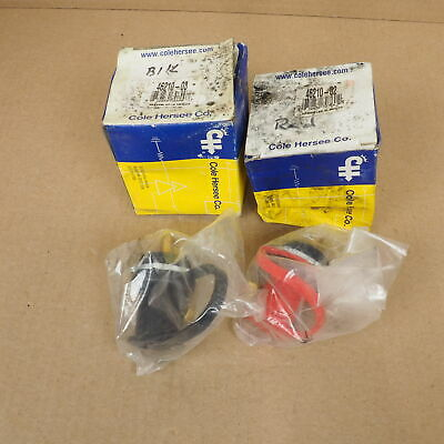 Set of Cole Hersee Red 46210-02 + Black 46210-03 Jumper Terminals