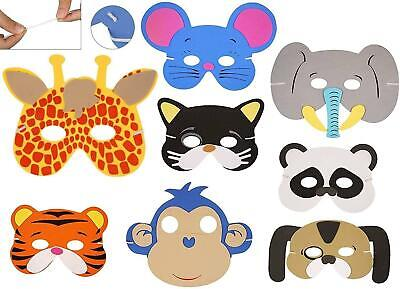 20 Kids Foam Animal Masks Dressing Up Party Loot bag fillers Jungle Party Toys