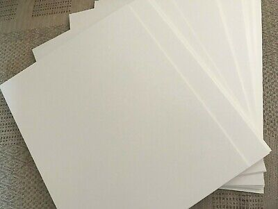 PACK12 SOFT WHITE COLOUR MOUNT BOARD CARD 10 inch x 8 inch BEVEL EDGE CUT CRAFTS