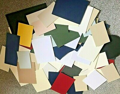 Box Of 64 Mountboard Mount Board Thick Card Off Cuts Assorted Sizes And Colours