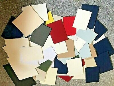 Box Of 63 Mountboard Mount Board Thick Card Off Cuts Assorted Sizes And Colours