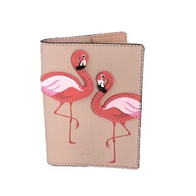 Kate Spade Passport Cover Flamingo By The Pool Passport Holder Case Bifold