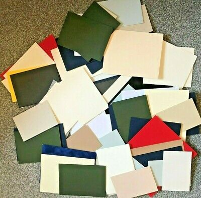 Box Of 66 Mountboard Mount Board Thick Card Off Cuts Assorted Sizes And Colours