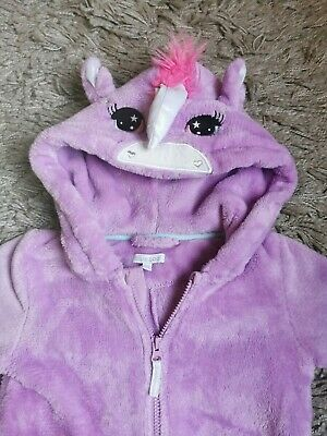 Blue Zoo Purple Unicorn Pyjama Jumpsuit Size 4-5 Years