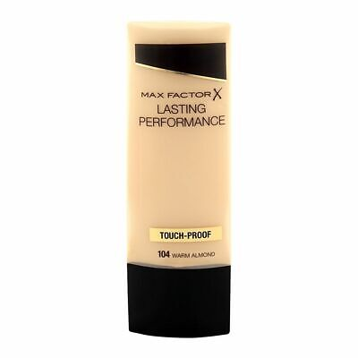 MAX FACTOR  Lasting Performance Touch-Proof 104 Warm Almond Foundation