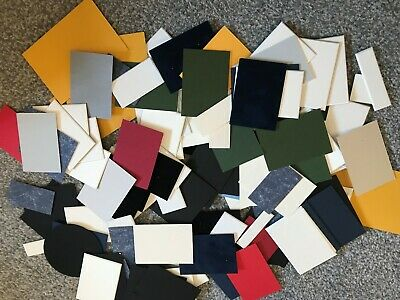495gm VERY SMALL PIECES MOUNT BOARD CARD OFF CUTS ASSORTED COLOURS FOR CRAFTS