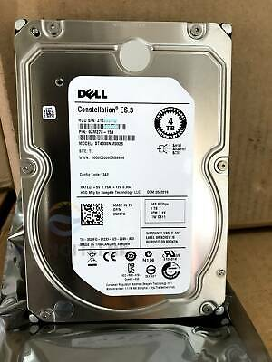 "Dell 529FG 0529FG ST4000NM0023 9ZM270-150 ES.3 4TB 7.2K 3.5"" SAS Hard Drive New"