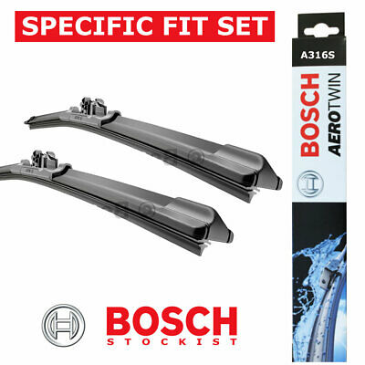 Citroen C4 Grand Picasso Front Windscreen Wiper Blades Set 2006 to 2008 BOSCH