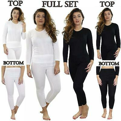 Ladies Thermal Top Long Sleeve Tshirt Underwear Legging Bottom Winter Warm Set