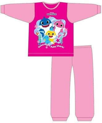 Girls Infant Kids Baby Shark Pyjamas 18 Months to 5 Years Official Set PJs NEW