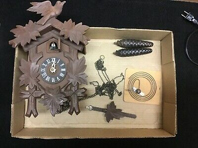 Old Vintage Antique Cuckoo Clock Germany Parts Repair Black Forest