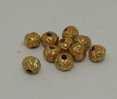 10 X Post Medieval Gold Beads - 0126