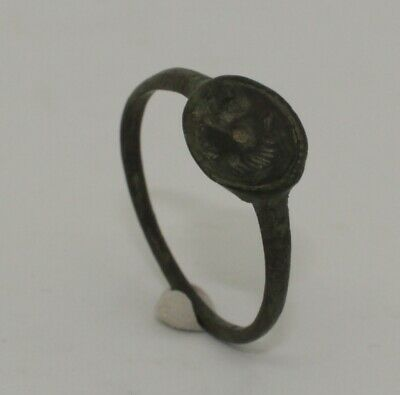 Quality Roman Bronze Seal Ring - Circa 2Nd Ad  -782
