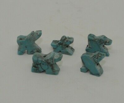 5 X Ancient Bactrian Turqiuoise Amulets,  Circa 1000Bc   0911