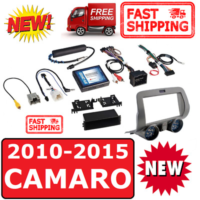 2010-15 Chevy Camaro  Double Din 2Din Car Stereo Radio Installation Dash Kit