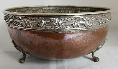 Beautiful Antique Copper and Brass Bowl by Connell Cheapside  from1921.