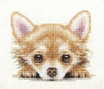 CHIHUAHUA PUPPY, DOG Full counted cross stitch kit + all materials *Fido Studio