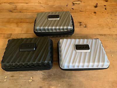 Lot Of Three TUMI Delta First Class Amenity Kit Travel Hard Case Pre-Owned
