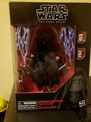 "Star Wars The Black Series Emperor Palpatine Deluxe 6"" Amazon Figure w/ Throne"