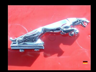 GROSSE Chrome Kühlerfigur badge Emblem leaper hood ornament bonnet mascot Jaguar