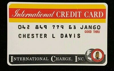 International Charge Inc. Credit Card exp 60♡Free Shipping♡cc129