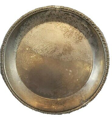 "Silver Plated 10"" Plate International Silver Company"