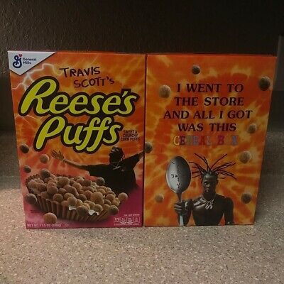 Travis Scott Reeses Puffs Cereal Special Edition Box Regular Size Trusted Seller