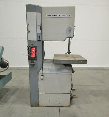 "14272  Rockwell Delta 20"" Vertical Saw, Model 28-3X5 with Blade Welder"
