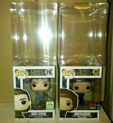 Funko Pop Game of Thrones Lot of 2 Shared #76 ECCC Arya Stark #77 NYCC Missandei