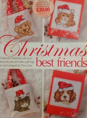 Cute Animals Festive Jumpers Cards Cat Dog Christmas Cross Stitch Chart X9