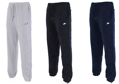 Nike Mens Fleece Joggers Sweat Pants Tracksuit Bottoms in Black, Grey and Navy