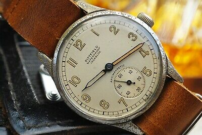 ENICAR WEHRMACHTSWERK CALIBRE AS 1130 MILITARY VINTAGE WATCH ON NATO STRAP c1940