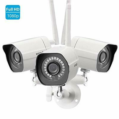 Zmodo 1080p Full HD Outdoor Wireless Security Camera System, 3 Pack Smart Home