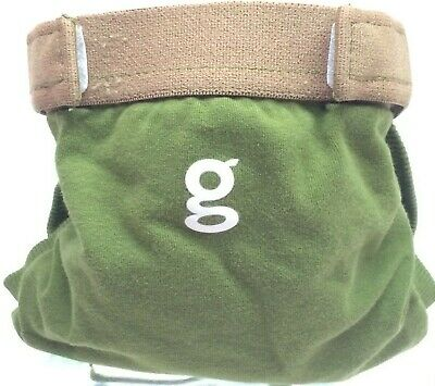 Gdiapers Small Army Green Gpant & Pouch Euc