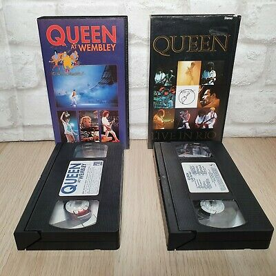Queen Live In Rio and Live At Wembley VHS Bundle