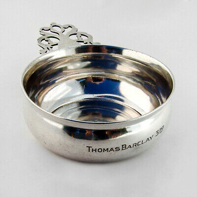 Towle Porringer Baby Bowl Pierced Handle Sterling Silver 1940