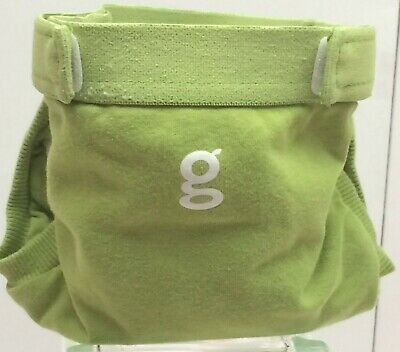 Gdiapers Small Guppy Green Gpant & Pouch Euc