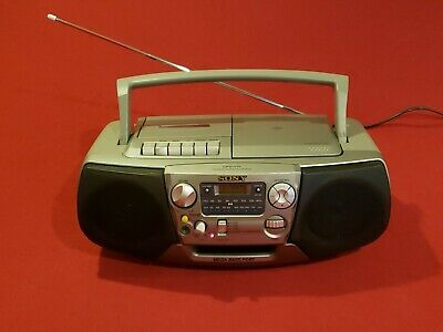Sony Cfd-V17 Megabass Cd/Am-Fm/ Cassette Recorder Portable Boombox 💯% Tested