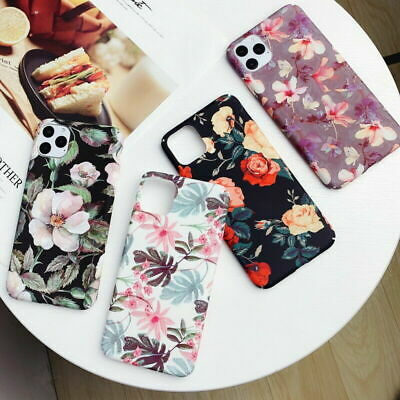 Retro Flower Matte Shockproof Hard Case Cover For iPhone 11 Pro Max XS XR 8 7 6