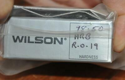 Wilson Rockwell Hardness Standard Test Block Scale B 98.50 HRB RO.19