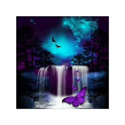 Butterfly Waterfall DIY 5D Diamond Painting Full Drill Embroidery Craft Painting