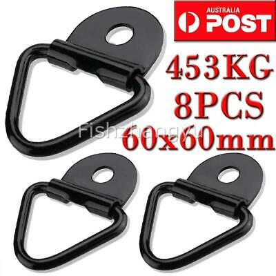 8PCS LASHING D RING ZINC PLATED TIE DOWN ANCHOR POINT UTE TRAILER 60X60MM New