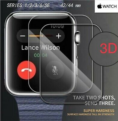 Apple Watch Series 2/3/4/5 Full Cover 3D Tempered Glass Curved Screen Protector