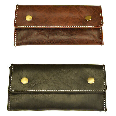 Compact Full Grain leather  Tobacco pouch
