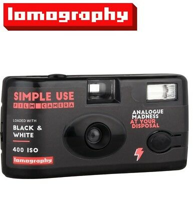 Lomography B&W 400 ISO 36exp 35mm Disposable SIMPLE Single USE Film Camera US