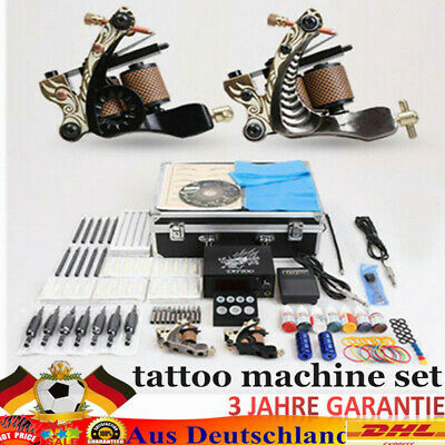tatuar completo ametralladoras Tattoo machine 2 gun completos de tatuaje Kit SET